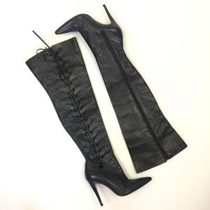 Manolo Blahnik Size 36 Over The Knee Boots Black